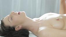 Sexy oil massage beautiful young wife Nina