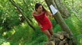 青姦 Forest SEX 森の中で尻を開く女 Claudia Rossi クラウディア 3
