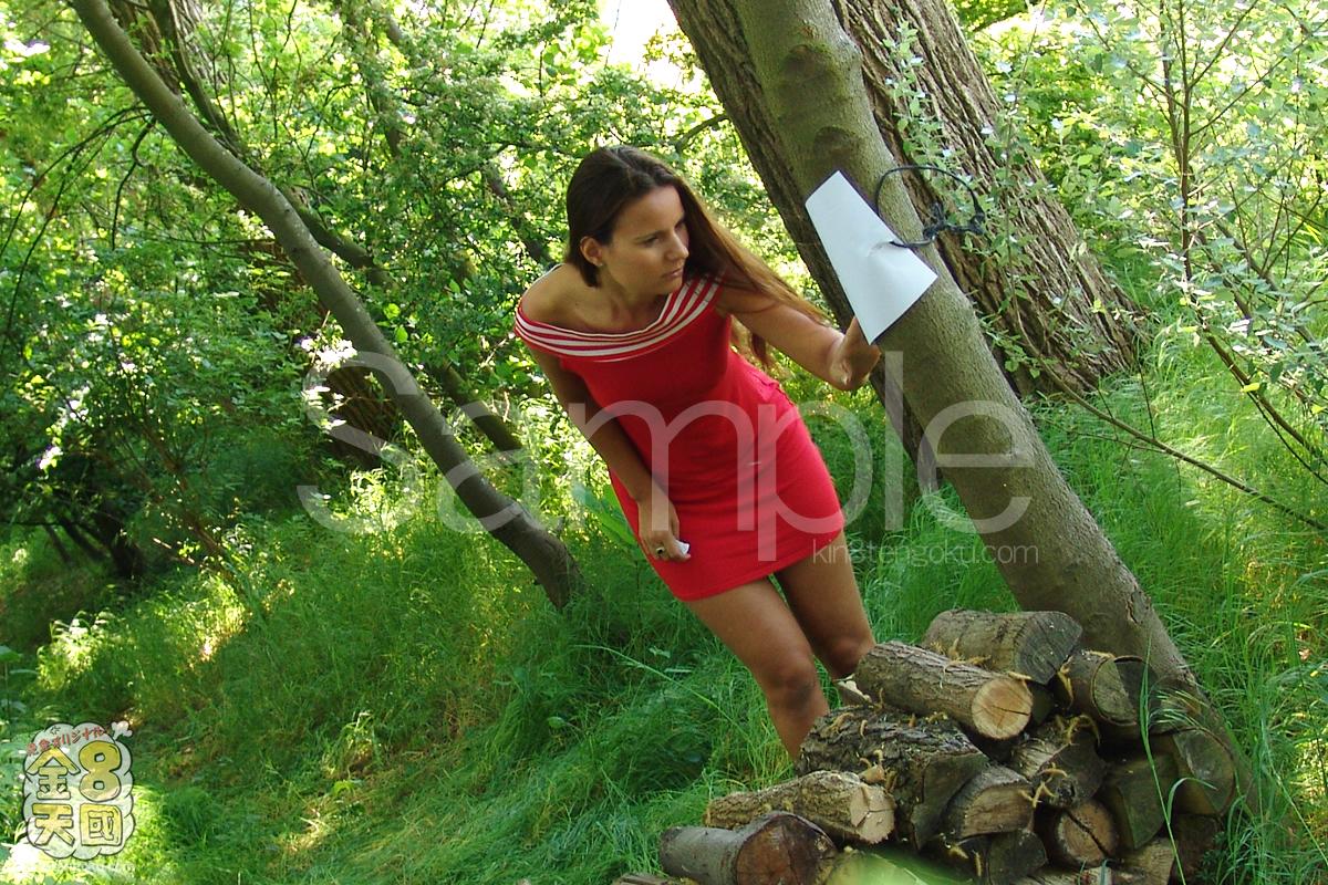 金髪天國(金8天国)|青姦 Forest SEX 森の中で尻を開く女 Claudia Rossi|クラウディア|洋物 金髪