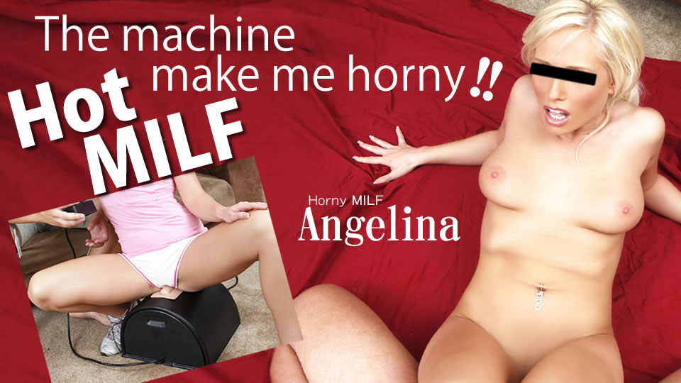 The machine make me horny!! Hot MILF